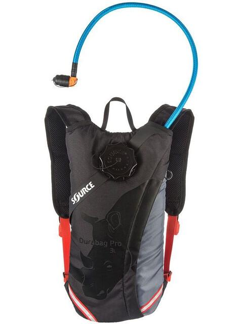 SOURCE Durabag Pro Trinkrucksack 3l Gray/ Black/ Fiesta